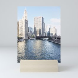 Magic Hour Downtown, Chicago River Mini Art Print