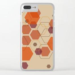Hexagon Autumn Clear iPhone Case