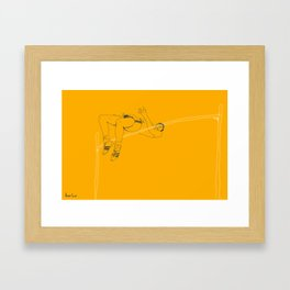 Fosbury jump Framed Art Print