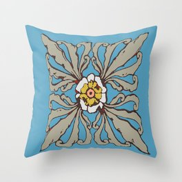 A Flower in the Moonlight Throw Pillow