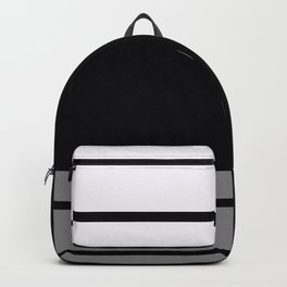 Team Colors 9...Black, white and gray Backpack