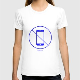 No Phone one (blue) T-shirt