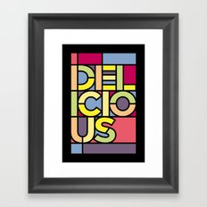 Delicious - Stained Glass Framed Art Print