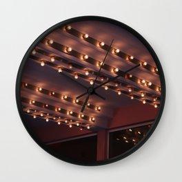 Cinema light bulbs vintage cinema lights Wall Clock