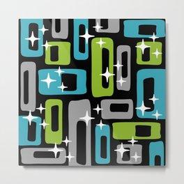 Mid Century Modern Geometric Abstract 189 Metal Print