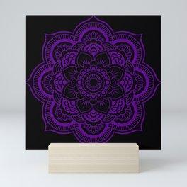 Deep Purple Mandala Mini Art Print