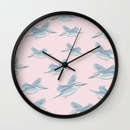 Flying Birds, Cameo Pink Wall Clock