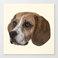 beagle Canvas Prints featuring Beagle by Goncalo