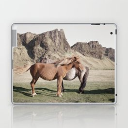Rustic Horse Photograph in Mountains Laptop & iPad Skin