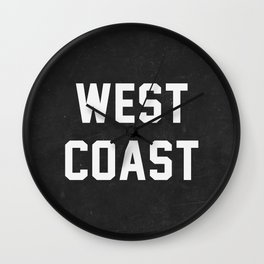 West Coast - black version Wall Clock