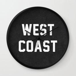 West Coast - black version Wall Clock