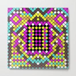 Mosaic X - Abstract, tiled, mosaic, geometric pattern Metal Print
