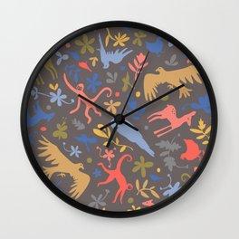 Frida Menagerie in Studio Wall Clock