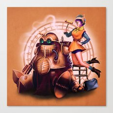 Lucca and Robo Canvas Print