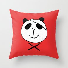 One eyes panda Throw Pillow