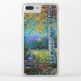 Nocturne Blue - Palette Knife Clear iPhone Case