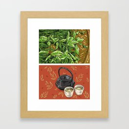 Foodie: It's Tea Time Framed Art Print
