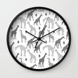 Geometric Giraffes Wall Clock