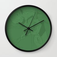 camouflage Wall Clocks featuring Camouflage by Tobe Fonseca