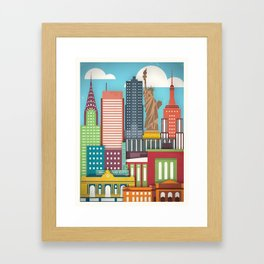 Touristique - New York Framed Art Print