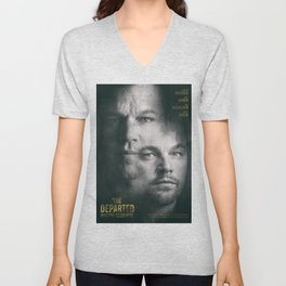 The Departed, Martin Scorsese movie poster, Leonardo DiCaprio, Matt Damon, american mafia film Unisex V-Neck
