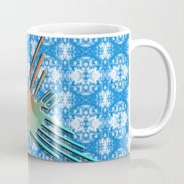 Nazca Lines Hummingbird On Abstract Background Coffee Mug