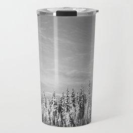 Spruce After Snow Storm Travel Mug