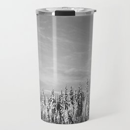 Spruce After Snow Storm Travel Mug
