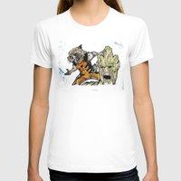 rocket raccoon T-shirts featuring Rocket Raccoon and Groot by artbyteesa