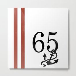 Nautical Number Print Metal Print