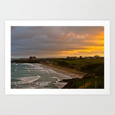 Cornish Seascape Newquay Cornwall Art Print