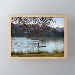 Sprint canoe Framed Mini Art Print