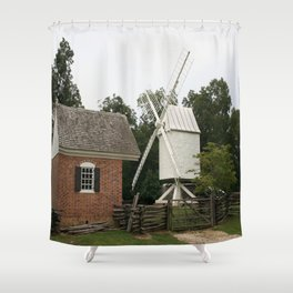 White Windmill - Colonial Williamsburg Shower Curtain