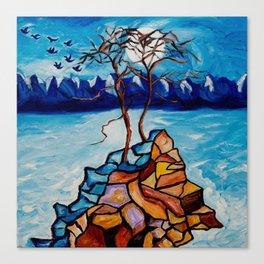 Moonlight Cypress Canvas Print
