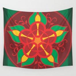 Mandala Flower by FreddiJr Wall Tapestry