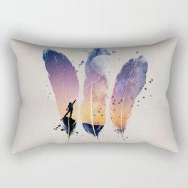 FEATHERS / MOON BALLOON Rectangular Pillow