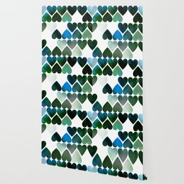 Mod Blue Hearts Wallpaper