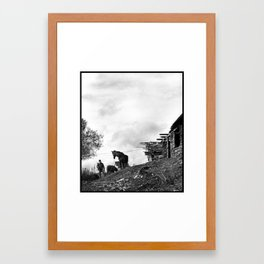 Roma Boy & His Horse Framed Art Print