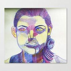 Muli-colored female Canvas Print