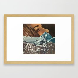 mountains between us Framed Art Print