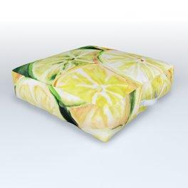 Limes and lemons Outdoor Floor Cushion