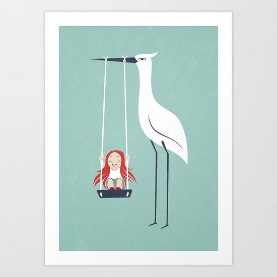 Swings Art Print