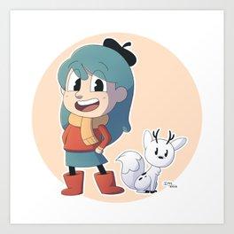 Hilda and Twig Art Print