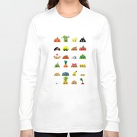 talking heads Long Sleeve T-shirts featuring Heads by Mr Onion