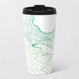 Secret places II - handmade green map Travel Mug