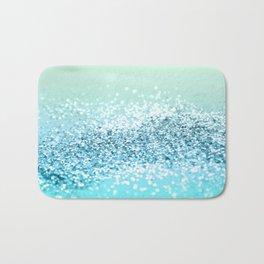 Seafoam Aqua Ocean MERMAID Girls Glitter #2 #shiny #decor #art #society6 Bath Mat
