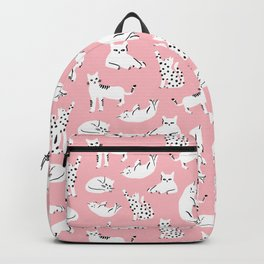 Cat Pattern - Pink Backpack