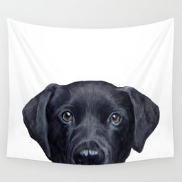 Labrador with white background Dog illustration original painting print Wall Tapestry