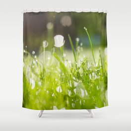 grassy morning Shower Curtain