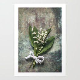 Beautiful Lily Of The Valley Art Print